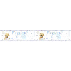 Simon Elvin Foil Teddy Baby Boy Banner New Baby Party Banner Decoration Blue