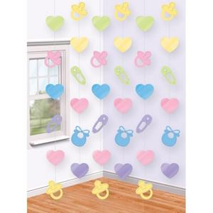 Amscan Hanging String Baby Shower Party Decoration Multicolour