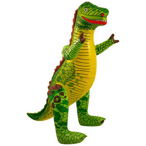 Henbrandt Inflatable Dinosaur Jurassic Birthday Party Decoration Green