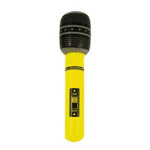 Henbrandt Inflatable Microphone Pop Star Birthday Party Decoration Yellow