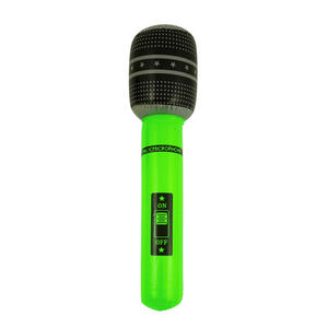 Henbrandt Inflatable Microphone Pop Star Birthday Party Decoration Green