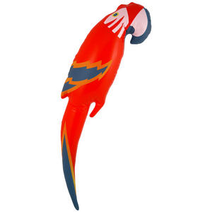 Henbrandt Inflatable Parrot Pirate Birthday Party Decoration Accessory Red
