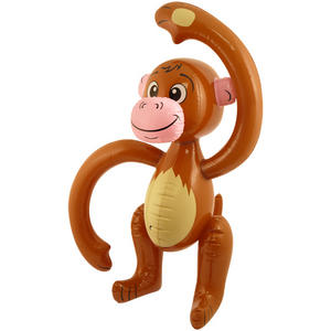 Henbrandt Inflatable Monkey Jungle Animal Birthday Party Decoration Brown