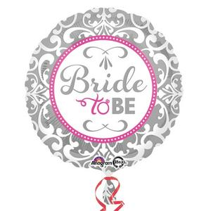 "Anagram 18"" Circle Foil Elegent Bride To Be Balloon Hen Party Decoration Silver"
