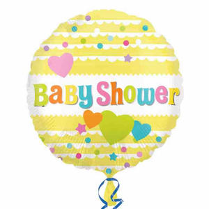 "Anagram 18"" Circle Foil Baby Shower Balloon Mum To Be Party Decoration Yellow"