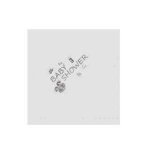 Npk 15 Baby Shower Silver Printed Napkins Party Table Servietee Decoration White