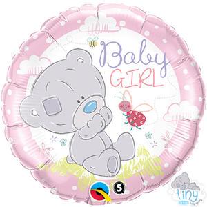 "Qualatex 18"" Round Foil Tiny Tatty Teddy Baby Girl Balloon Party Decoration"