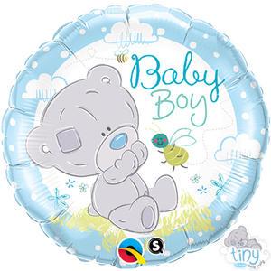 "Qualatex 18"" Round Foil Tiny Tatty Teddy Baby Boy Balloon Party Decoration"