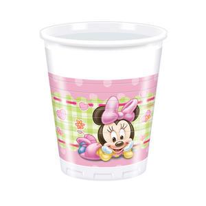 8 Baby Minnie 7Oz Plastic Cups Disney Birthday Party Baby Shower Cup