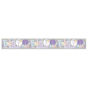 Expression Factory Holo Foil Baby Shower Banner Mum To Be Party Decoration