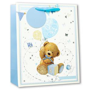 Simon Elvin Glitter Large Gift Bags - Baby Boy