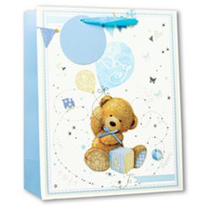 Simon Elvin Glitter Medium Gift Bags - Baby Boy