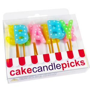 Creative Party Polka Dots Pick Candles - Baby Shower