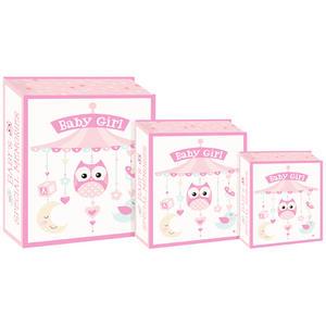 Eurowrap 3PCS Book Box - Baby Girl