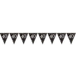 Amscan Sparkling Gold Celebration 40th Birthday - Bunting
