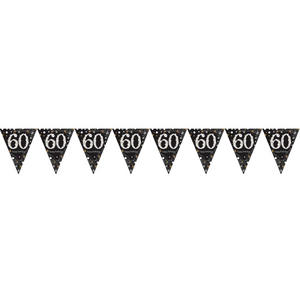 Amscan Sparkling Gold Celebration 60th Birthday - Bunting