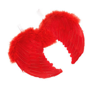 Mini Red Feather Wings Fairy Princess Red Devil Halloween Fancy Dress