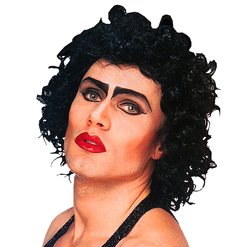 Black Frank N Furter Wig Rocky Horror Show Halloween Fancy Dress