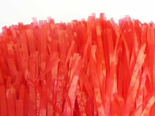 Jumbo Red Pom Pom American Cheerleader Fancy Dress X1