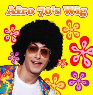 Black 70'S Style Afro Wig Michael Jackson Fancy Dress