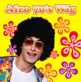 Black 70'S Style Afro Wig Michael Jackson Fancy Dress