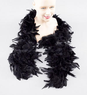 Black 2M Long Feather Boa Moulin Rouge Can Can Dancer Drag Queen Fancy Dres