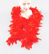 Red 2M Long Feather Boa Moulin Rouge Can Can Dancer Drag Queen Fancy Dress