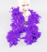 Royal Blue 2M Feather Boa Moulin Rouge Can Can Dancer Drag Queen Fancy Dress