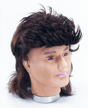 Brown Mullet Wig 80S Pop Star George Michael Wham Hill Billy Fancy Dress