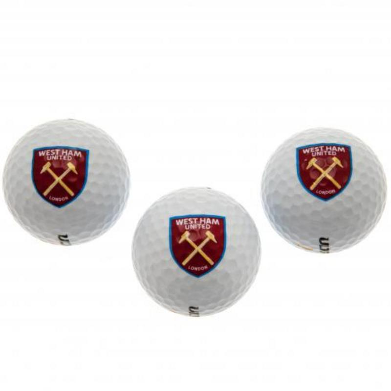 West Ham United Fc Golf Balls Packith Club Crest