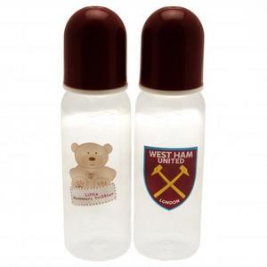 West Ham United Fc Utd 2 Pack Baby Feeding Bottle Bottles