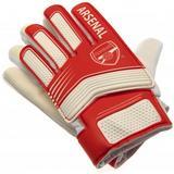 Arsenal Fc Goalkeeper Goalie Gloves Childrens Kids 7-9 Years