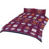 West Ham United Fc Double Duvet Quilt Cover Bedding Set HC
