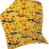 Emoji Soft Fleece Blanket Throw