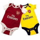 Arsenal Fc 2 Pack Bodysuit 0/3 mths DR