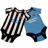 Newcastle United Fc Utd 2 Pack Bodysuit Baby Kit Clothing 12-18 Months ST