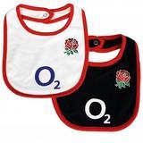 England Rugby Shirt Team RFU 2 Pack Baby Bibs Kit ST