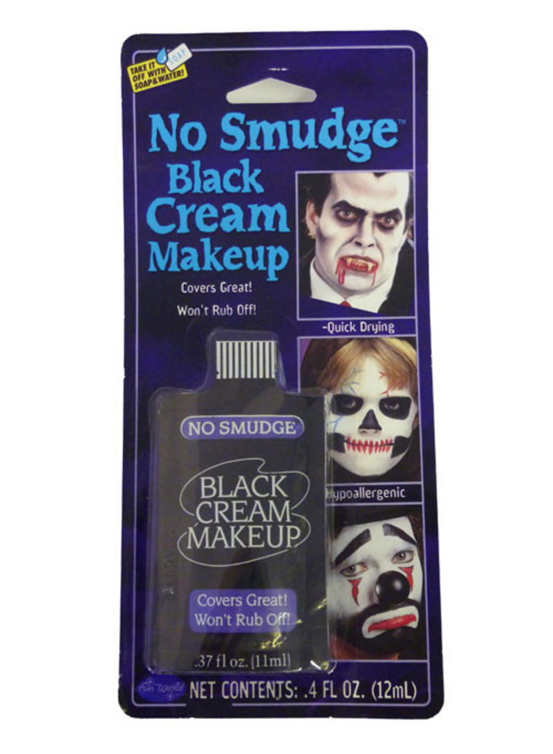 Non Smudge Black Make Up Vampire Fancy Dress Halloween 12Ml