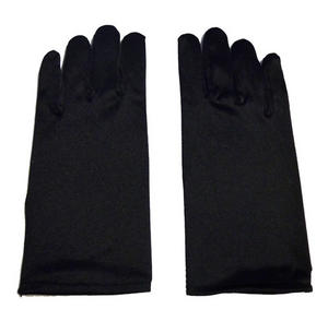 Children Kids Black Short Satin Feel Gloves Fancy Dress