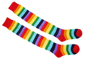 Multi Coloured Clown Socks Circus Fancy Dress