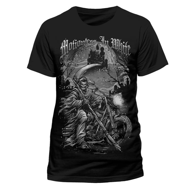 Motionless In White Mens T-Shirt Top Licensed Merchandise Reaper XXL