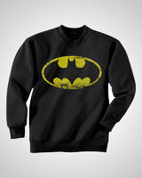 Batman Crewneck Sweatshirt Jumper Distressed Logo XXL