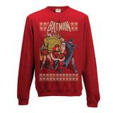 Batman Crewneck Sweatshirt Jumper Robin And Santa S