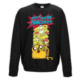 Adventure Time Crewneck Sweatshirt Jumper Pancakes XXL