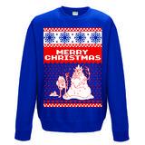 Adventure Time Crewneck Sweatshirt Jumper Merry Christmas L