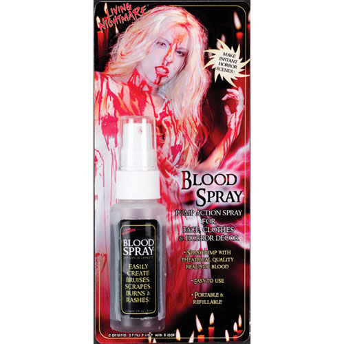 Pump Spray Tube Of Fake Blood - Vampire Halloween Fancy Dress 2Oz