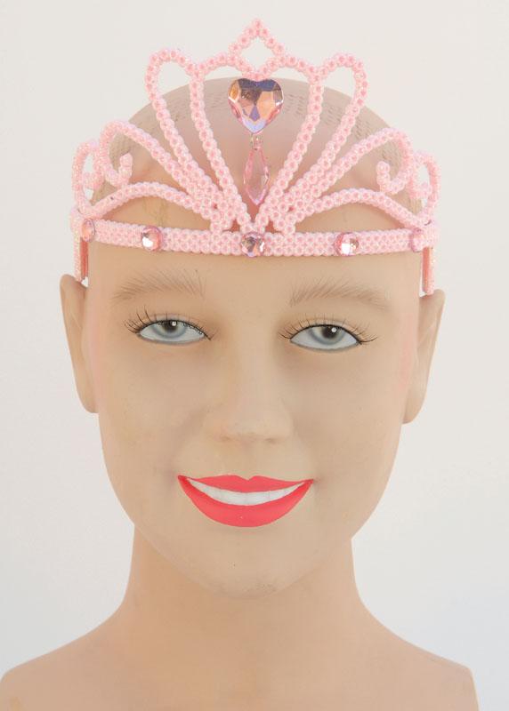 Pink Glitter Tiar & Stone - Fairy Princess Fancy Dress
