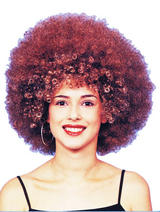 Beyonce Style Brown Afro Wig - Diva Fancy Dress