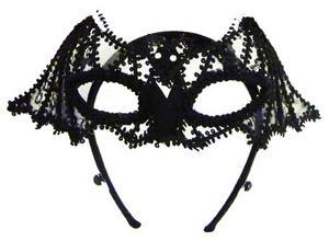 Black Bat Mask Lace Halloween Masquerade Fancy Dress