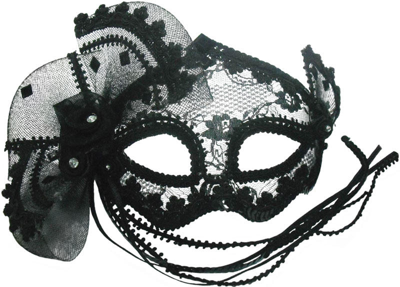 Black Lace Eye Face Mask Venetian Masquerade Ball Fancy Dress